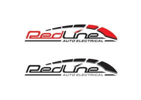 redline auto electrical logo by sammi321