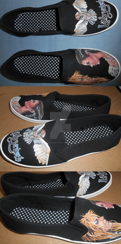 Labyrinth Hand Painted Shoes by DruidicDesigns