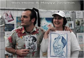 Maggy Jacqmin and I by BenHeine