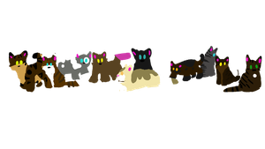 CATS EVERY WERE! TRY AND NAME THEM ALL!! by Captain-Speck