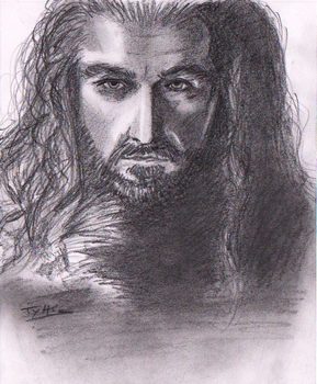 Portrait training 5 - Thorin by Tyfflie