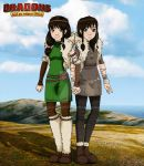 .:HTTYD OC Vitra and Visna (Collab):. by Alex-Hime