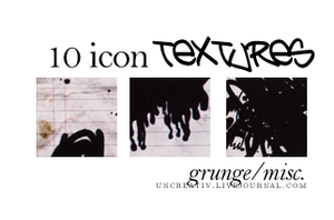 10 misc grunge icon textures by Sarytah