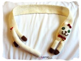 Choco Cream Kitty Cat Scarf by Cateaclysmic