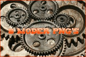 Eight Modern PNG's by dreamboysjb