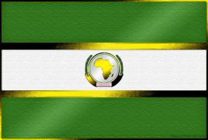 Flag of the African Union (obsolete) by Sings-With-Spirits