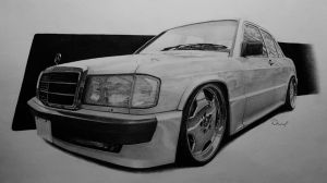 Mercedes 190E by LOLLIPOP007