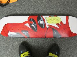 Deadpool Skateboard by MUFC10