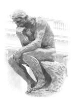 The Thinker by agfox49