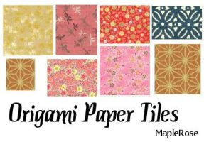Origami Paper Tiles by MapleRose-stock
