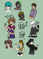 [COMMISSION] Humanized OC's BATCH 1 by CassMutt