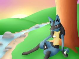 Lucario by BlueEyesNeko