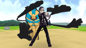 Kid and Cofagrigus for Nintendo 3DS by 25animeguys