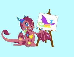 Request: Sally the Artist by Blue-Dragons-Fan
