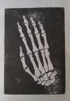 Skelatal Hand Lino Print by S-Red