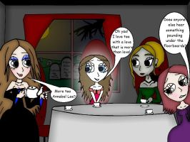 Tea Party With Poe Girls by lonely-in-winter