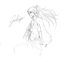 Gakupo Sketch by Evielow