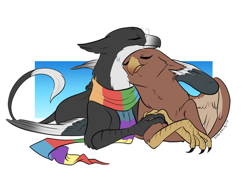 Gryph Love by Pixel-Prism