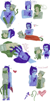 Nepeta and Equius drawing dumpage. 800th by seriia