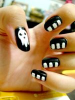 Nail Art: Death The Kid by LeleMJ