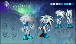 Dream the hedgehog ref by AbsoluteDream