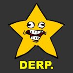 Derpstar Shirt Design by PhiTuS