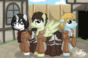 Attack on Titan Ponies by InkRose98