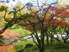 autumn look japanese garden 5 by ingeline-art