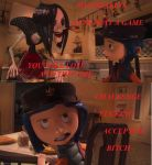 Coraline Ragecomic: Challenge Accepted by Greenwood-Wolf