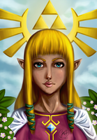 Zelda skyward sword potrait by Mad-Owl