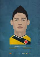 James Rodriguez - COLOMBIA by SamuraiGustav