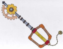 Steampunk Keyblade by AceKun16