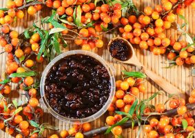 Sea-buckthorn jam with walnuts by Morgaer