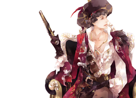 Pirate!Sherlock Wallpaper by mlcamaro