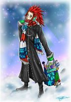Festive Axel Commission by Blue-Fayt