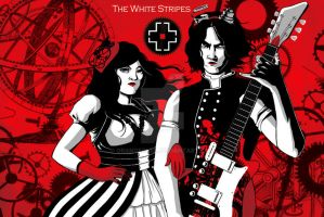 The White Stripes Miniposter by OrangeCurl