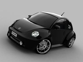 VW beetle black style by ajpennypacker