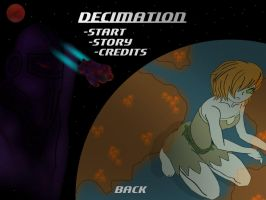 Decimation Title Screen by YousefHussein