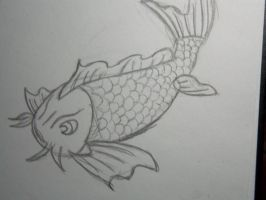 Koi Fish Sketch by shmad380