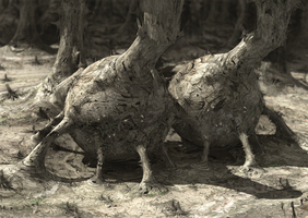 Stovepipe Trees of Fractal Planet by SideShowPresents