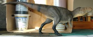 Torvosaurus tanneri half-naked in black stockings by Gorgosaurus
