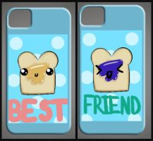 Peanut Butter and Jelly iPhone cases! by sarahthemerp