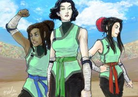 the Flying Boars - Lin, Kya, Honora by oreides