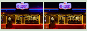 American Diner Restaurant ::: 3D DRI Cross-View by zour