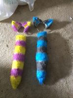 Custom Ear and tail commission done by Tatta-Kasame