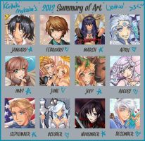 Art Summary 2012 by Aiko-Mustang
