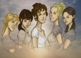 Pride and Prejudice Girls CLR by DaveJorel