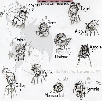 UNDERTALE Sketches by MyWorld35