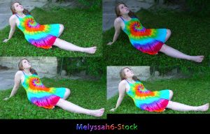 Tie Dye Dress Stock VI by Melyssah6-Stock