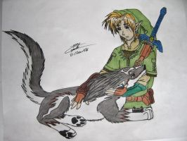 link and wolf link by srs17